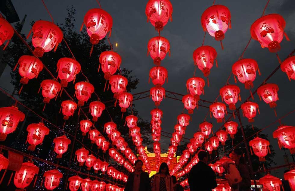 TAIWAN, 05.02.2012. Celebrações do Festival das Lanternas em Taipei.