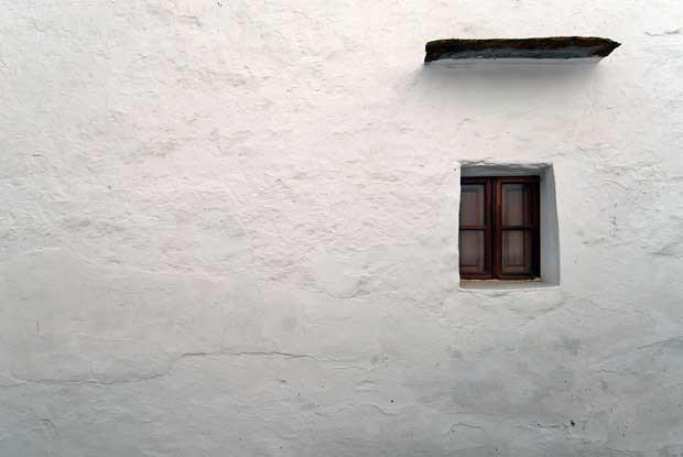 O branco cal de uma casa de Monsaraz.