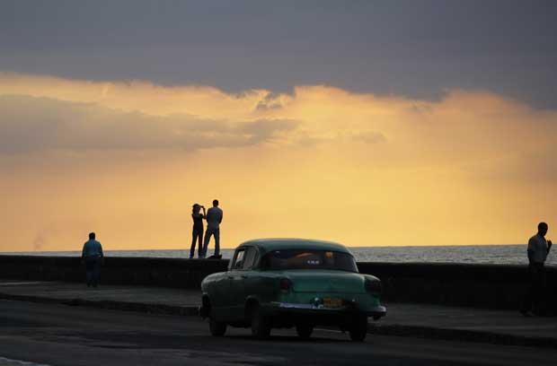 CUBA, 15.02.2012. Na avenida do mar de Havana, El Malecón