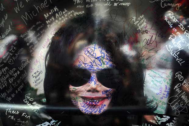 Um poster de Michael Jackson