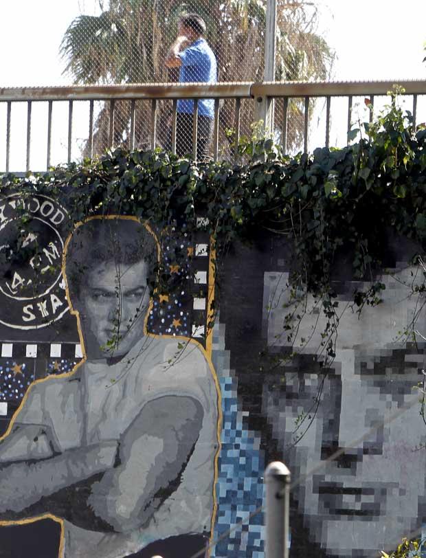 Um mural para Tony Curtis, na Sunset Boulevard