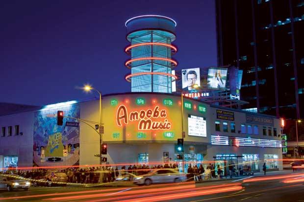 A loja de música Amoeba, na Sunset Boulevard: carismática e cavernosa loja para procurar novos e velhos discos e vídeos.