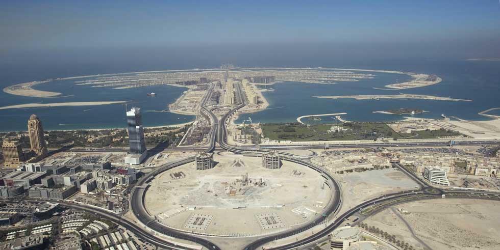 O desenvolvimento imobiliário de Palm Island Jumeirah e arredores foi redesenhando a costa do Dubai.