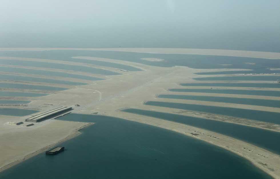 Desenvolvimento de mais um arquipélago artificial, Palm Jebel Ali .