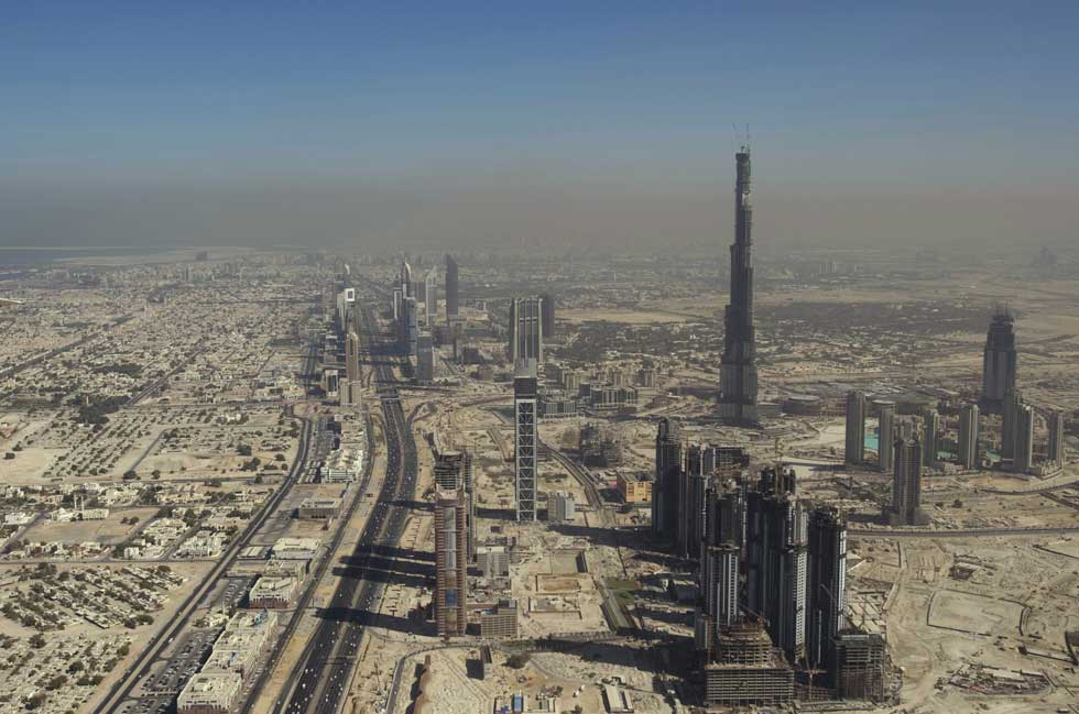 A torre: Burj Khalifa é a mais alta do mundo e marca o horizonte do Dubai