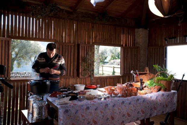 Papa Quilómetros com o chef Ljubomir Stanisic