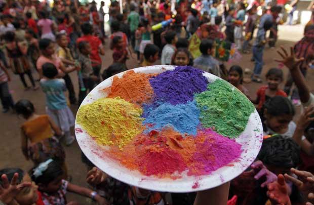 Duche de cor em Hyderabad