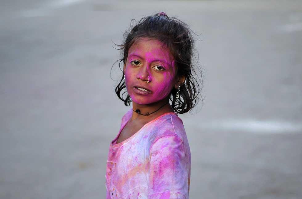 No Paquistão, como no resto do mundo onde há uma comunidade hindu, o festival também é celebrado. Aqui, a jovem Sita, em Carachi