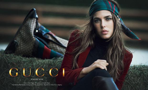 Uma imagem da campanha da Gucci protagonizada pela neta de Grace Kelly