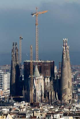 ESPANHA, 16.03.2012. As obras imparáveis da Sagrada Família. Prevê-se que só por volta de 2025 estará terminada a obra-prima imaginada por Gaudí