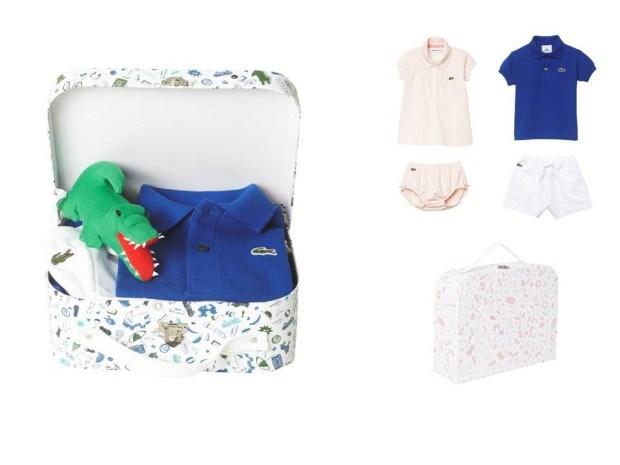 Os conjuntos para bebé da Lacoste