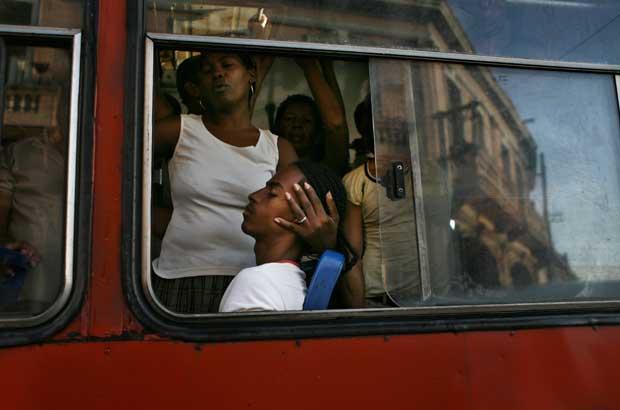 No autocarro, em Havana