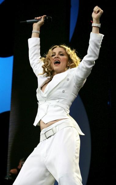 No concerto Live8, em Londres - 2005