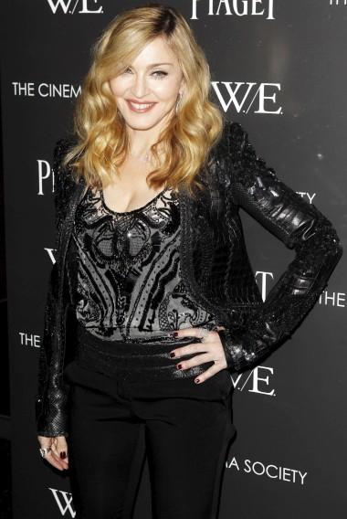 Enquanto realizadora, na estreia do seu filme W.E. em Nova Iorque - 2011