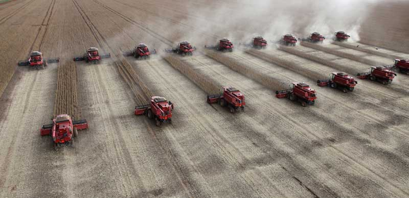 BRASIL, 27.03.2012. Colheita de soja em Tangara da Serra (Mato Grosso)