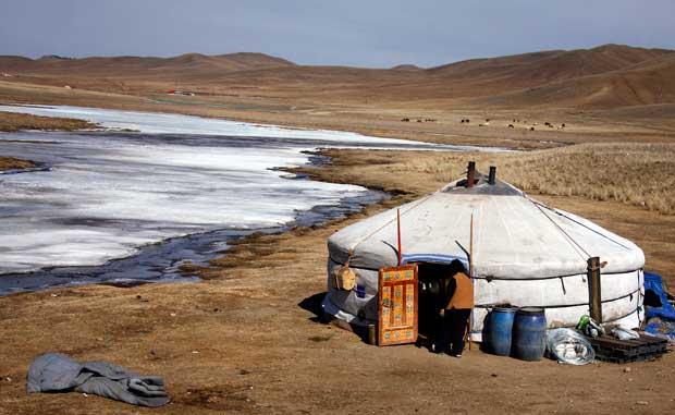 A tradicional tenda mongol