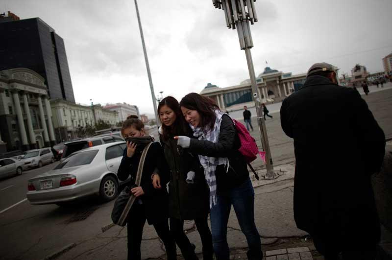 Já longe do mundo rural, a juventude mongol no centro da capital
