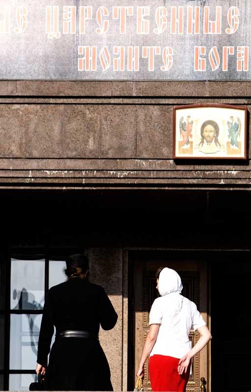 Igreja em Yekaterimburgo, onde o último czar foi morto juntamente com os cinco filhos e a mulher.
