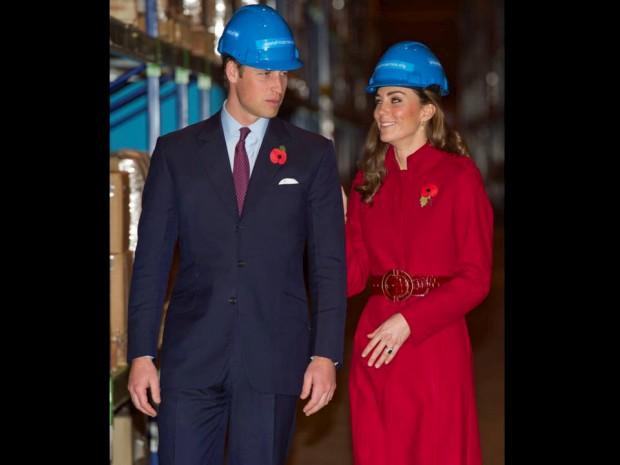 Novembro de 2011 – William e Catherine visitam o centro de emergência da UNICEF em Copenhaga, Dinamarca