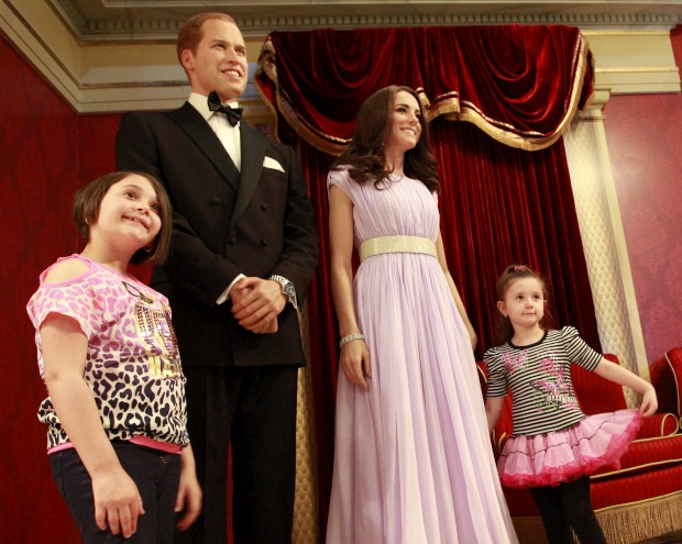 Abril de 2012 – As figuras de cera de William e Catherine no museu Madame Tussauds, em Nova Iorque.