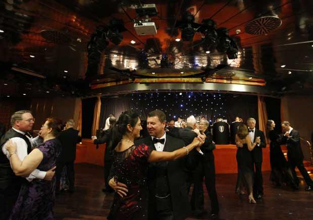 Uma dança no MS Balmoral