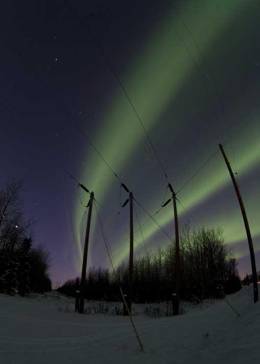 Aurora Boreal perto de Butte, Alasca, EUA (08.03.2012).
