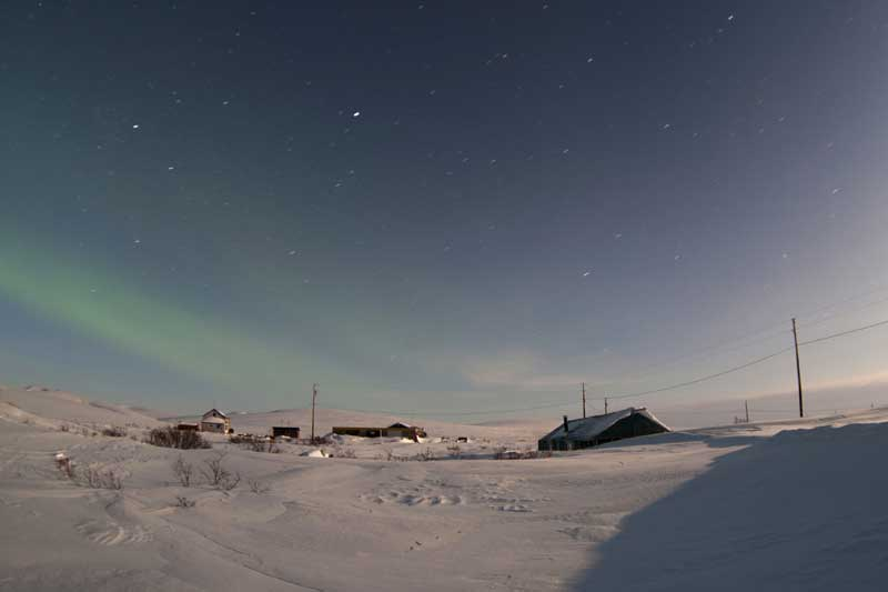 Aurora Boreal perto de Nome, Alasca, EUA (10.03.2012).