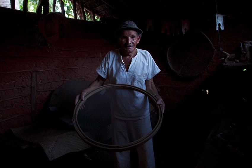 Coriolando, ex-garimpeiro, em Lençóis