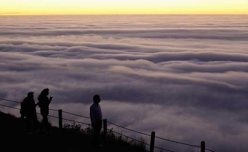 ÁFRICA DO SUL, 8.05.2012. A Cidade do Cabo coberta por nevoeiro, prepara-se para o Inverno.