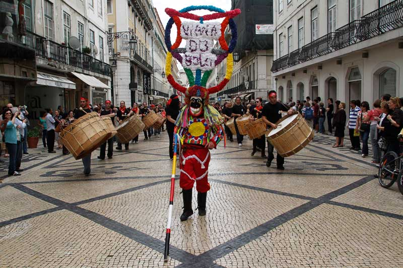 PORTUGAL, 12.05.2012. No desfile da Máscara Ibérica, em Lisboa