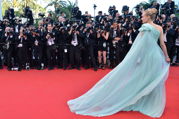A actriz Diane Kruger em Giambattista Valli Couture