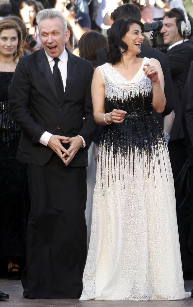 Jean-Paul Gaultier e Hiam Abbass, dois dos membros do júri da 65ª edição do festival de Cannes