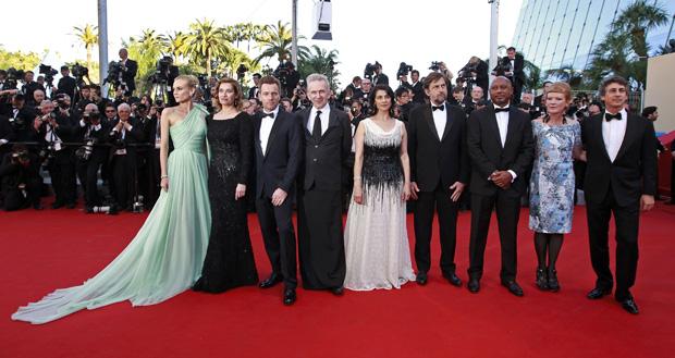 O júri da 65ª edição do Festival de Cannes:Diane Kruger, Emmanuelle Devos, Ewan McGregor, Jean-Paul Gaultier, Hiam Abbass, Nanni Moretti (o presidente), Raoul Peck, Andrea Arnolde Alexander Payne