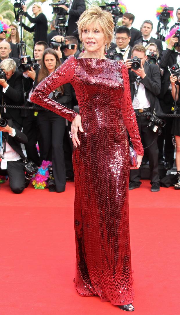 A actriz Jane Fonda em Roberto Cavalli