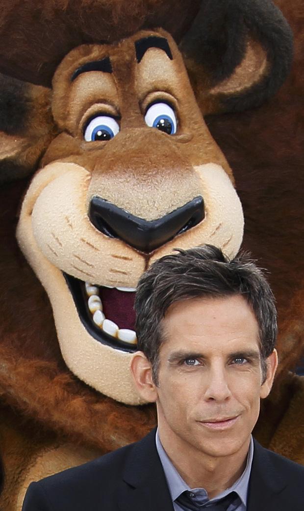 O actor Ben Stiller dá a voza Alex, o leão, no filme Madagáscar 3