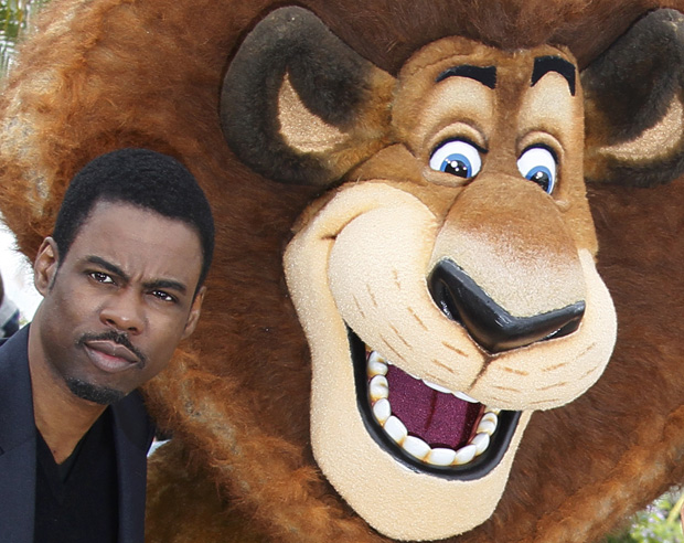 Chris Rock e Alex, o Leão.