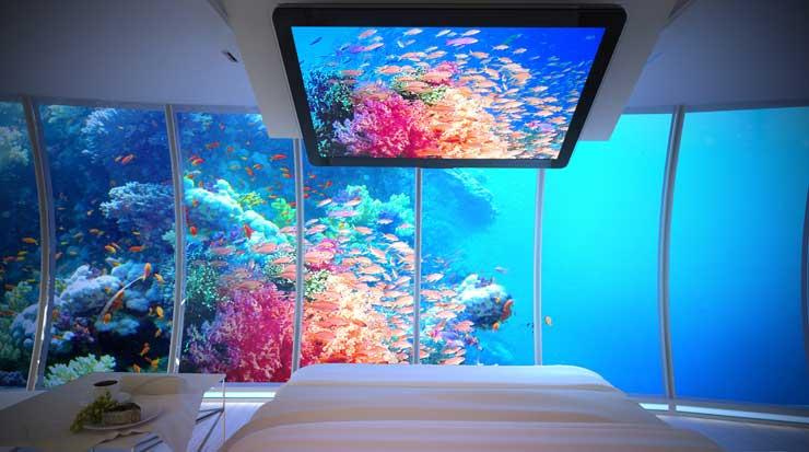 O futuro hotel subaquático do Dubai