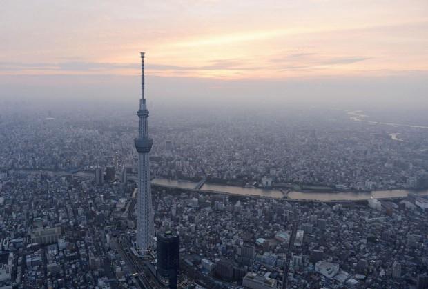 O novo skyline de Tóquio