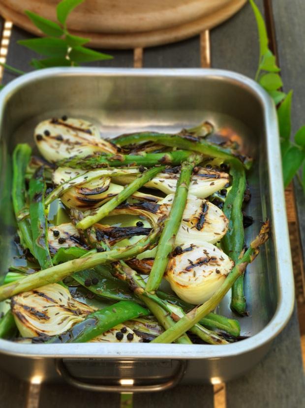Salada verde no forno