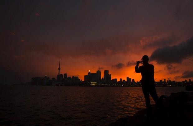CANADÁ, 21.06.2012. A fotografar Toronto, após uma tempestade