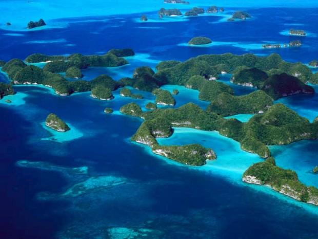 Lagoa austral das ilhas Rochosas (ou Chelbacheb), Palau