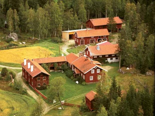 Casas rurais decoradas de Hälsingland (Suécia)