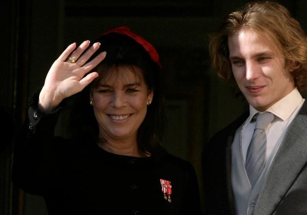 Carolina do Mónaco e o filho Andrea