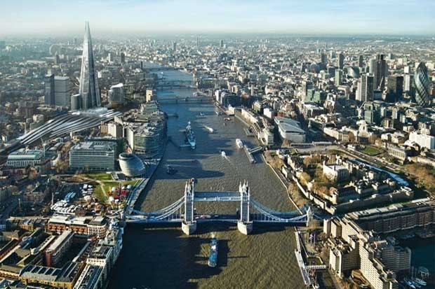 Vista geral da cidade com o Shard já a marcar o cenário