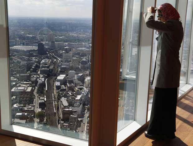 A ver Londres a partir do 69.º andar