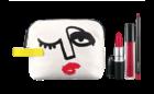Lip Bag: Batom, gloss e lápis dentro de uma bolsa criada pela ilustradora Julie Verhoeven. Produtos disponíveis nos tons rosa, pêssego, vermelho e nude.