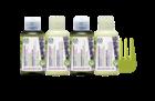 Kit de viagem para cabelos pintados. À base de óleo de pracaxi, extracto de mirtilo e óleo de linhaça, Não tem sulfatos, nem silicones, colorantes ou parabenos.