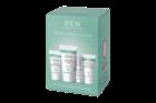 Kit for Sensitive Skin: inclui um gel de limpeza facial, um creme hidratante, um sérum de noite e uma máscara esfoliante.