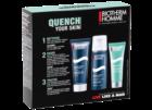 Starter Kit: limpeza e tratamento da pele masculina: gel de limpeza, espuma de barbear e creme de rosto à base de oligoelementos e vitaminas.