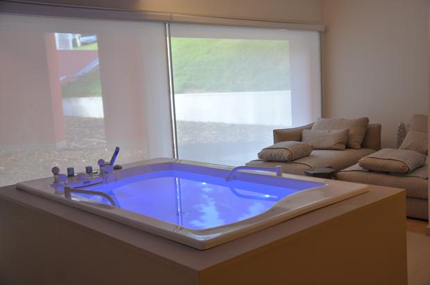 A suite do spa onde se fazem tratamentos a dois